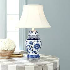 white ginger jar l blue and white porcelain ls ginger jar l with silk shade