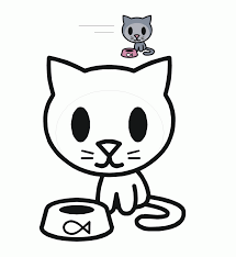 cute kitty coloring pages littlest pet shop cute cat coloring page