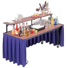 mobile bar buffet tables midwest folding products