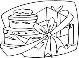 happy birthday gift coloring pages skat bebo pandco