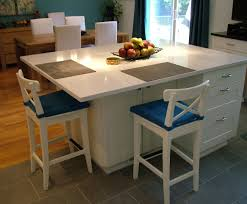 the large modern and specious kitchen island with seating home