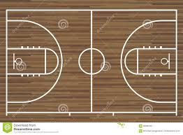 Basketball Court Floor Texture by Basketball Court With Parquet Wood Board Vector Illustration