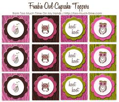 girlie owl free party printables