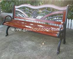 Wrought Iron Bench Wood Slats Cast Iron Wood Bench Antique Cast Iron Bench For Park View