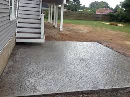 Stamped Concrete Patio Diy J Wase Construction Corp