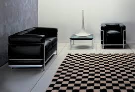 Esszimmerst Le Leder Chrom Lc2 Sofa Zweisitzer Gestell Chrom Cassina Einrichten Design De