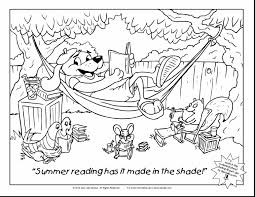 library coloring page and summer reading log colouring sheets 7