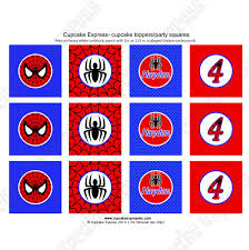 spiderman printable cupcake toppers diy