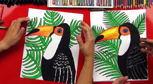how to draw a realistic toucan art for kids hub