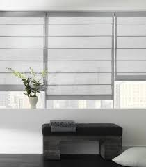 Cotton Roller Blinds Aventura Roman Shade In Cotton White The Shade Store Over Sized