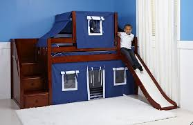 Childrens Bunk Bed With Slide Bedroom Bunk Bed With Slide Loft Bed With Mattress