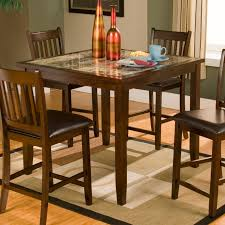 small espresso dining table alpine furniture capitola faux marble 5 piece small counter height