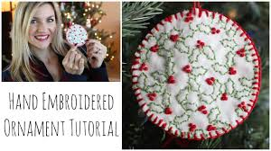 embroidered ornament tutorial