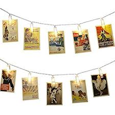photo hanging clips amazon com photo clip string lights 20 photo clips perfect for