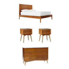MidCentury Bedroom Set Acorn West Elm Bedroom Dreamin - West elm mid century bedroom furniture