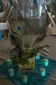 peacock centerpieces peacock wedding centerpieces this is kinda what one of our