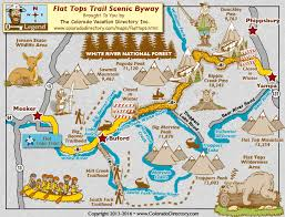 scenic byway flat tops trail scenic byway map colorado vacation directory