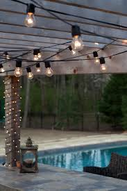 outdoor string lights for patio how to hang outdoor string lights patio sacharoff decoration