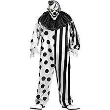 clown costume funworld killer clown complete black white one size