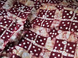 batik cotton fabric batik fabric maroon yellowish brown
