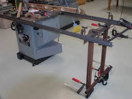 table saw mobile base unisaw mobile base and table improvement w many pics