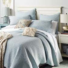 What Is A Duvet Cover And Sham Clare Scalloped Celestial Blue Quilt U0026 Sham Pier 1 Imports