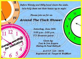 around the clock bridal shower around the clock shower invitation 0 63 heavens harmony