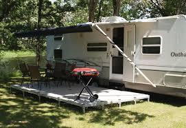 travel trailer with deck patio rv pinterest patio travel