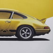 porsche 911 rs yellow porsche 911 rs poster automobilist