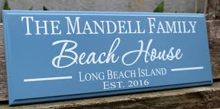 personalized beach house sign beach house decor beach sign