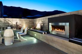 contemporary outdoor fireplaces steel outdoor fireplace foter