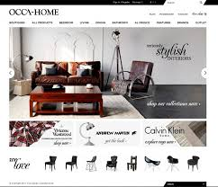 home interiors website decoration modern furniture website front page screen grab
