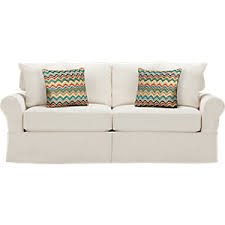 Slipcovered Sleeper Sofa Cindy Crawford Home Beachside Natural Sofa Sofas White