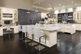 Kitchen Island With Seating Area This Kitchen Has It All Omega Custom Cabinets With Built In Desk