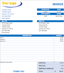 Monthly Invoice Template Excel Free Excel Invoice Templates Smartsheet