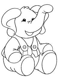 baby elephant children coloring pages free printable