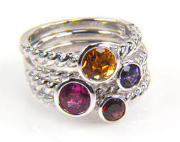 stackable birthstone rings stacking rings