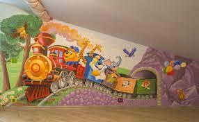 fresque murale chambre fresque murale dans la chambre d enfant 35 dessins joviaux inspirants