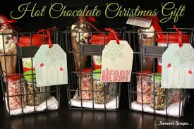 hot chocolate gift basket hot chocolate christmas gift idea food crafts and family