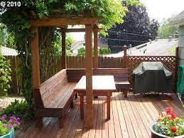 Deck Plans With Pergola by Pergola Over Bench Seating On The Deck Edge Our Yard Pinterest