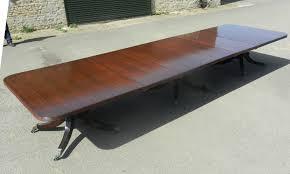 antique mahogany pedestal table 16ft 5 metre long regency mahogany pedestal dining table to seat up