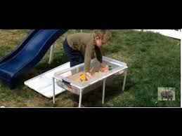 diy sand and water table pvc daddy chores how to make a kids sand and water table youtube