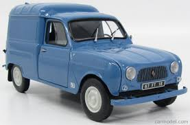 renault cars 1965 norev 185188 scale 1 18 renault r4 fourgonnette van 1965 blue