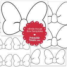printable minnie mouse bow template printabletreats