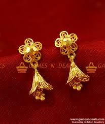 small rings design images Er273 traditional small daily wear guarantee jhumki design gold jpg