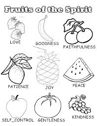 bold and modern fruit of the spirit coloring pages fruits spirit