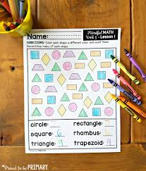 Practicing Independence Skills Get Ready For K Through by Geometry And Shapes Activities For Kids Proud To Be Primary
