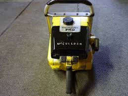 vintage chainsaw collection mcculloch 740
