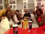 Adam LaRoche and the Duck Dynasty crew at Ben's Chili Bowl