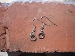 spacer earrings bike chain spacer earrings deadly